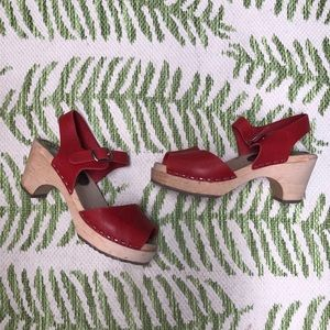 Lotta from Stockholm Red Leather Clogs size 36
